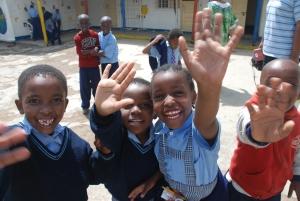 Children at the school in Tanzania
