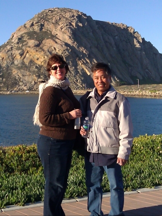 Sue and Ish at Morro Rock