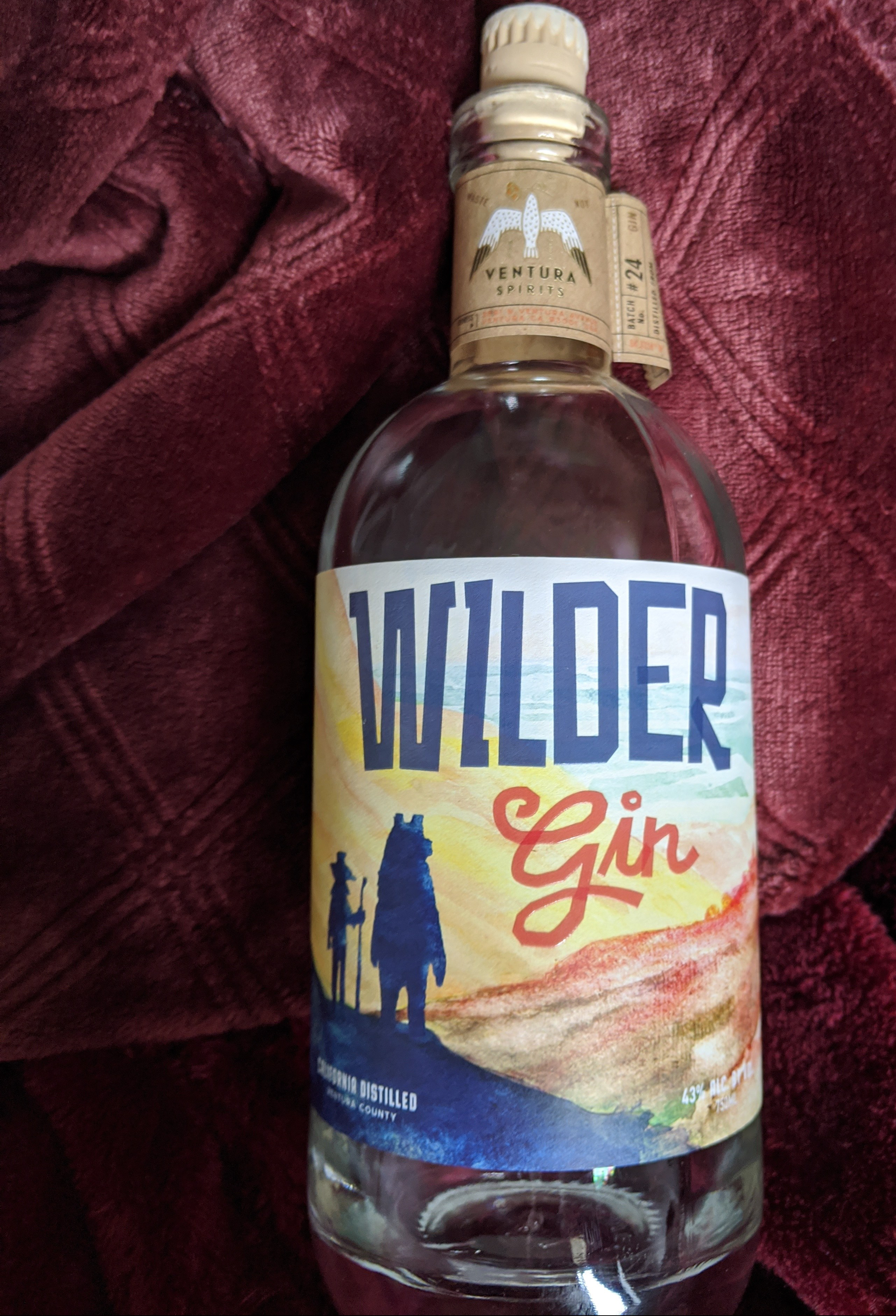bottle of Wilder Gin from Ventura Spirits company